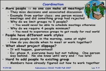 Lecture: Tips for working in a Project Team/ Cooperating Processes and Deadlock