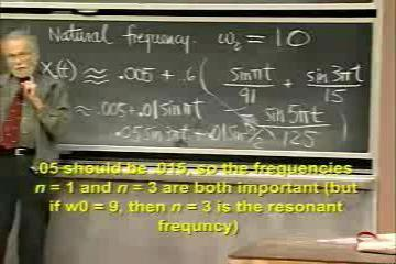Lecture: Finding Particular Solutions via Fourier Series; Resonant Terms