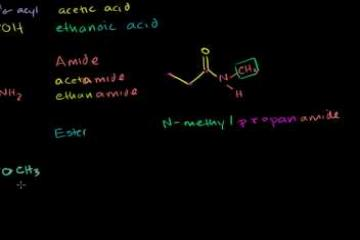 Lecture: Amides, Anhydrides, Esters and Acyl Chlorides