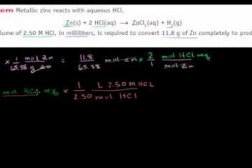 Lecture: Another Stoichiometry Example in a Solution
